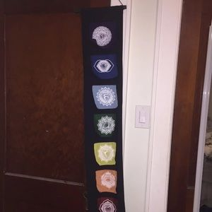 Chakra hanging flags decor